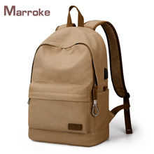 Marroke New Fasional Rucksack Canvas Backpack Men Leisure Travel Laptop Backpack School Bag