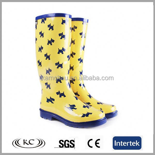 Dog Pattern Inexpensive Rain Boots Dog Pattern Inexpensive Rain