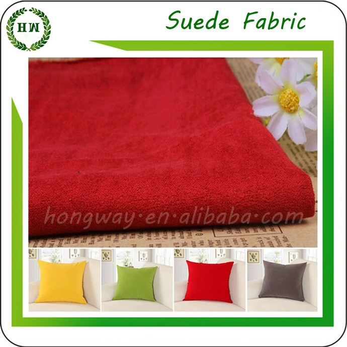Hongway 2015 HOT SALE 100%polyester brush cushion cover suede fabric