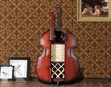 Hot sale violin wood wine cabinet for living room furniture decoration / display cabinet