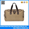 Wholesale European fashion tote bag zipper large men canvas travel bag for travelling