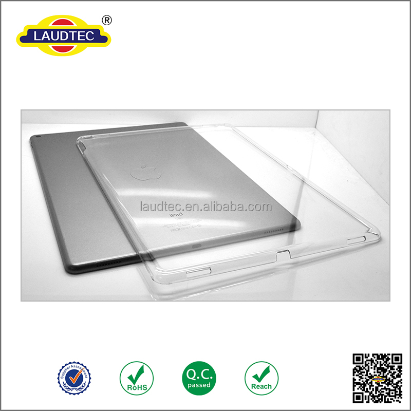 2015 New Arrival!! High Quality Full Cover Clear Crystal Hard Case For iPad Pro , plastic case for iPad Pro tablet case