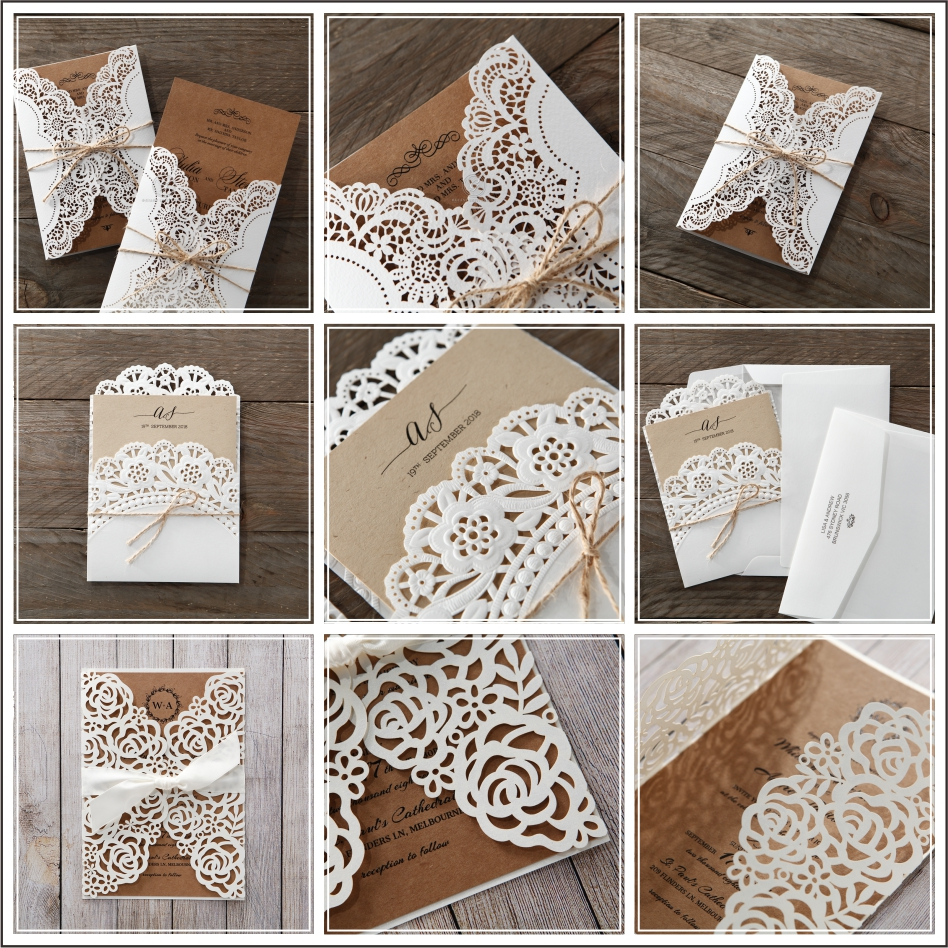 Beautiful Floral wedding invitations classic wedding invitation designs laser cut wedding invitations