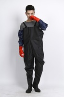 Promotional waterproof long pvc rain poncho,raincoat Fishing waders pant for adults