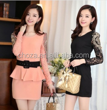 C62266A 2014 spring new Women Korean Fashion Slim office lady style dress for lady