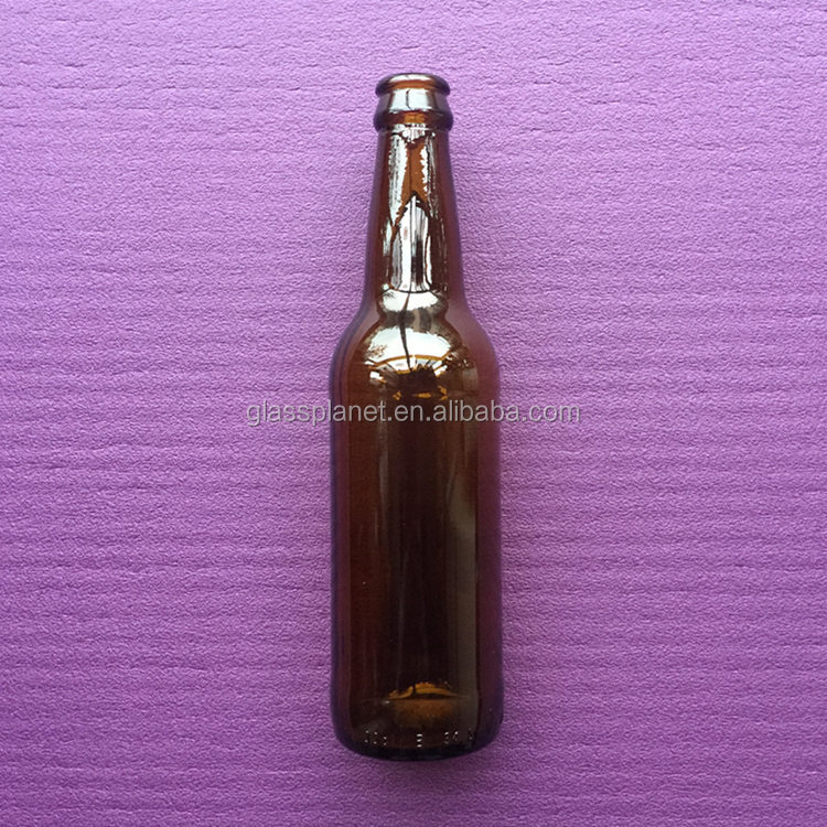 Brown Amber Glass Beer Bottle 330 ml 11 oz