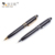 March Expo Custom Logo Printed Best Writing Black Metal Twist Ballpoint Pens