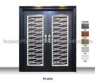 P6W34 Iron Grille Design Security Door Made from Malysia