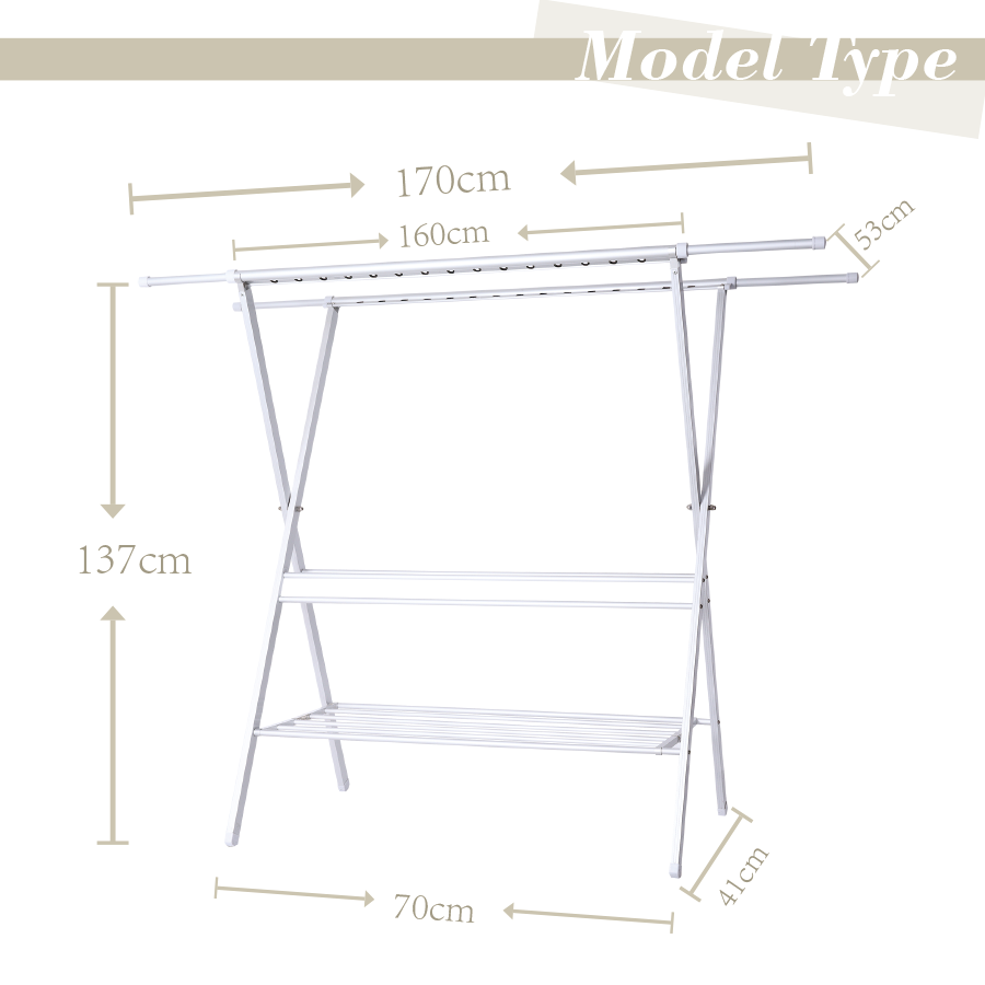 metal household essentials expandable folding indoor clothes drying rack