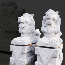yard art snow white garden granite lion statues for sale