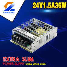110V/220V AC/DC 36W24V1.5A LED extra slim small size power supply or driver approve with CE,FCC and RoHS