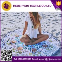 2016 factory supply the high printed round beach towels with the best price in China