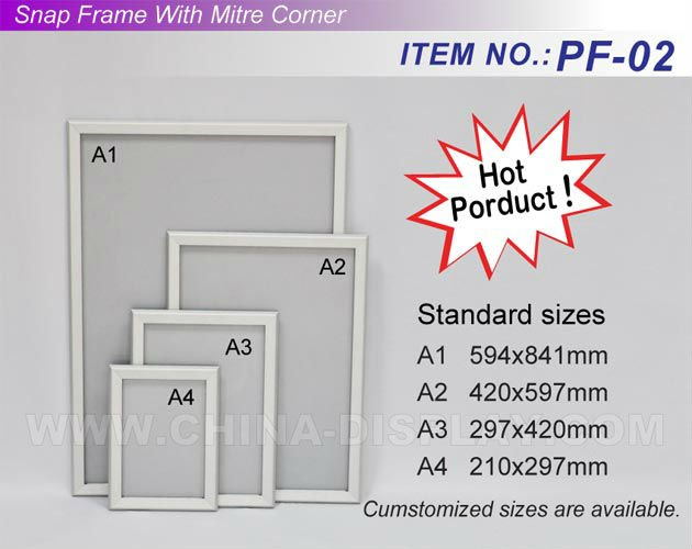 A2 Metal Snap Frame Slim Picture Aluminum Snap Photo Frame