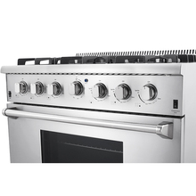 Professional 36'' HRG3618U 5.2cu. ft. Oven 6 Burners Gas Range