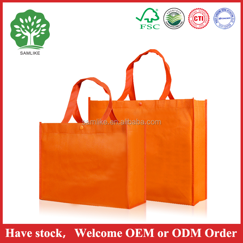 2016 [bag factory] new design in stock goods colorful standard custom shopping bag/drawstring cotton bag/folding non woven bags