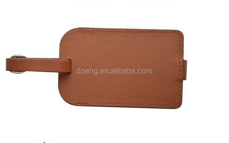 2017 Bulk leather luggage tags,blank luggage tag wholesale
