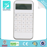 Fupu mini white pocket 10 digit calculator for promotion gift