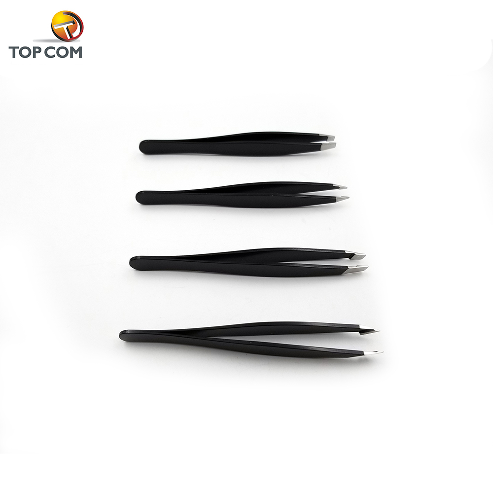 4pcs Professional Hair Beauty Hair Remover Tools Stainless Steel Eyebrow Precision Tweezers
