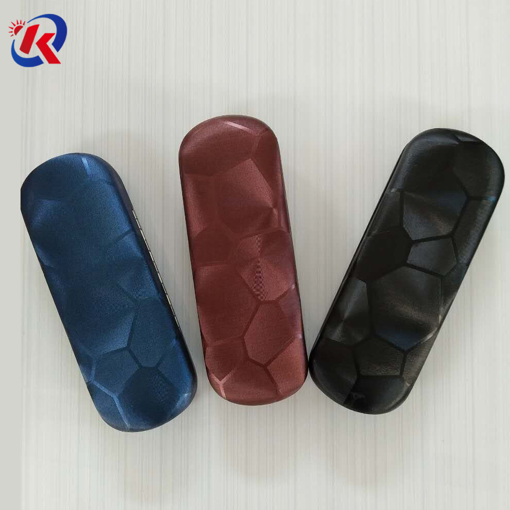 high quality metal glasses case with leathery outside