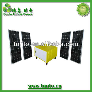 Best Seller 220V 480W Solar Panel 1200w Inverter Home Solar System With AC DC output