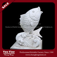 Polished Hand Carved Fish Sculpture Fountain