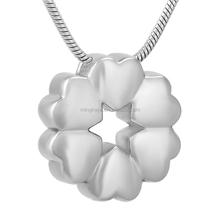 IJD9723 Cremation urns for ashes, heart necklace silver cremation pendants