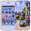 Protective Back Case with Small Town Oil Painting for iPhone 4/4S