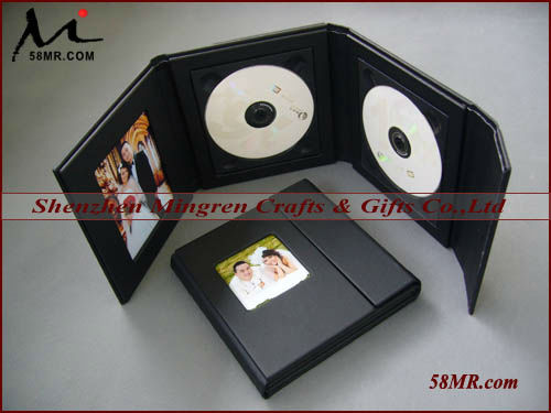 Wedding Leather CD DVD Holder,1 Pic,4 Disc