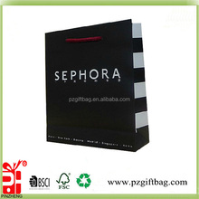 Customized high quality sephora shopping paper bags manufacturer