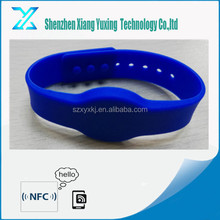 NFC ISO14443A adjustable fitness 13.56mhz silicon rfid bracelet for spa centre