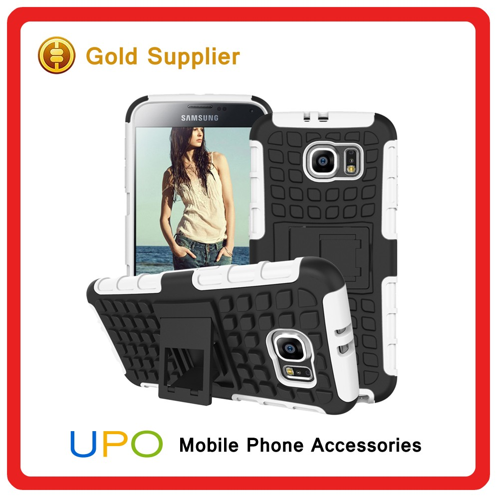 [UPO] Hot Selling Hybrid Shockproof Hard Plastic PC Silicon Phone Cover Case for Samsung Galaxy S6