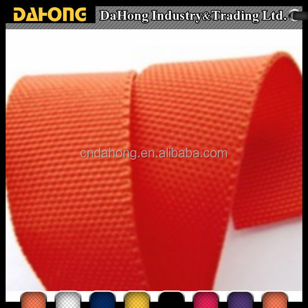 eco-friendly colored woven PP elastic webbing