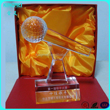 KM-XP72 Custom high quality modern design laser Crystal Microphone Shape Award Trophy for business gift