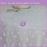 MY0003T hot new design wedding organza butterfly cheap table cloth
