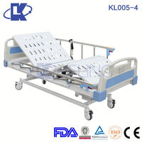 electric hospital bed with al-alloy handrails hospital nursing home bed medical adjustable beds
