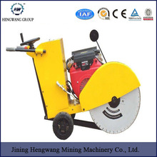Hengwang HW400 walk behind floor road used cutting saw machine concrete cutter with famous brand gasoline engine