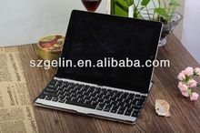 2014 Aluminum alloy pink leather case bluetooth keyboard for ipad 3
