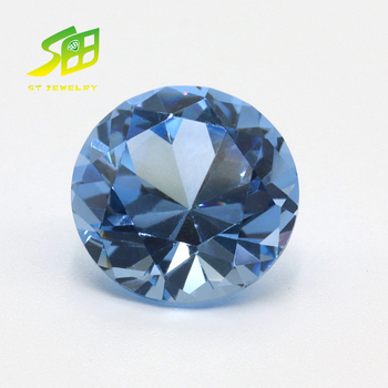 Ocean Round 3mm high quality low price blue 32# Synthetic Sapphire