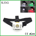 6 Modes LED Camping Headlamp with White Red and Green Light
