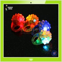 Cheap flashing led jelly ring finger lights for promotional gift