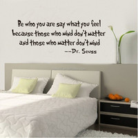 Be Who You Are What You Feel Quotes Wall Stickers Decorative Wall Decor Removable Vinyl Wall Stickers Home Decoration ZY8075