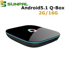Newest Android TV Box Q-Box Amlogic S905, android 5.1 16.0 Quad Core, Q Box 2g/16g hot for USA Canada,Australia italy iptv