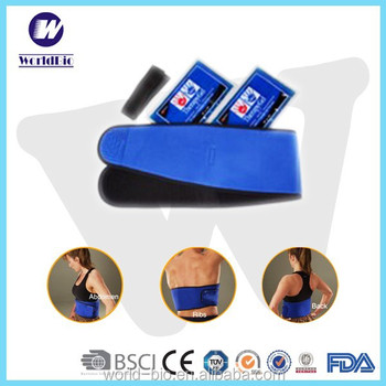 First grade reusable waist belt with hot cold pack