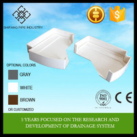 "2015 hot sale PVC 5.2""&7"" plastic pvc end cap for pvc gutter fittings Shifang Pipe Direct Factory Price"