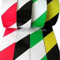 Black & Yellow Striped Hazard Warning PVC Lane marking tape