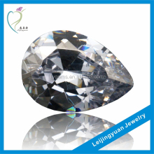 Good Quality Pear Cut Artificial White 12# Corundum Stone Wholesale