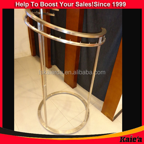 metal round rotating clothes rack round rack for garments
