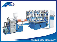 Wenzhou STARLINK Best Sale in China Single Color Rotary 16 stations pvc sport shoe sole making machine