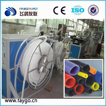PVC PP PE Single Wall Corrugated Pipe Machine/ soft flexible garden water drainage tube production line