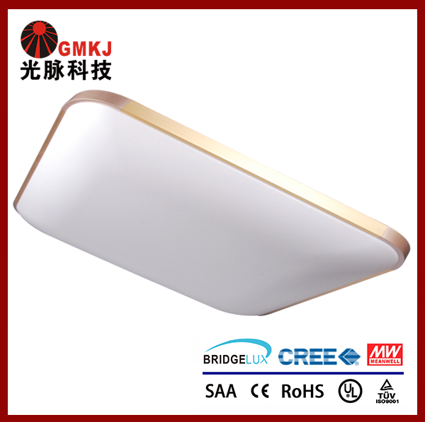 48W Square LED Panel Ceiling Light Comprises a Curved Exterior Surface